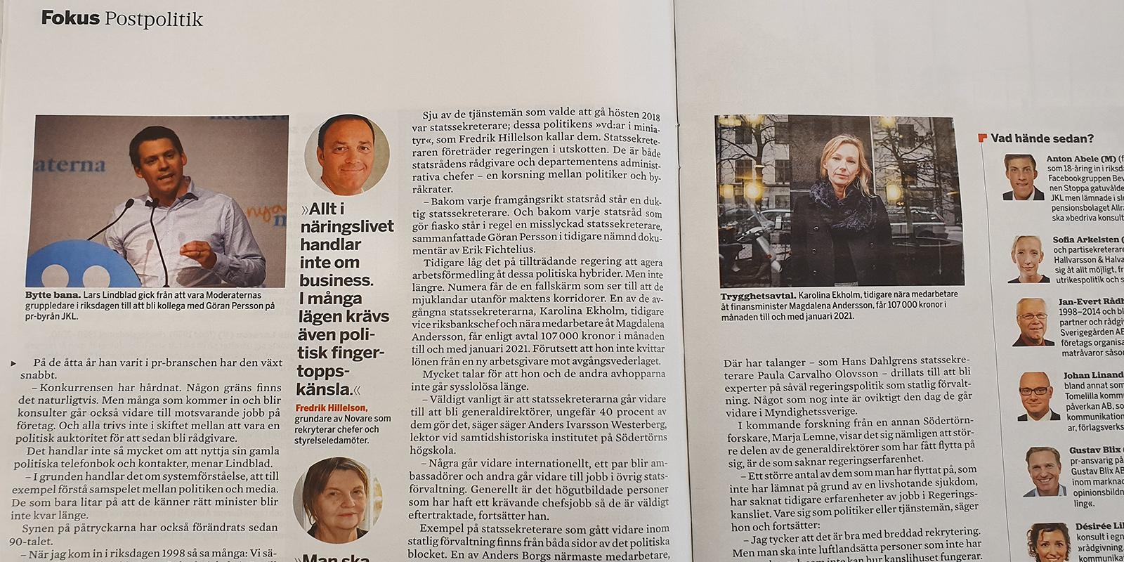 Fredrik Hillelson intervjuad i Fokus