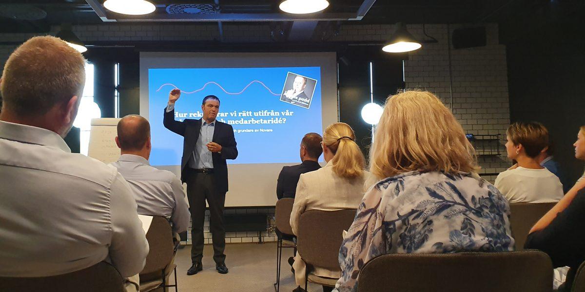 Fredrik Hillelson talade på chefskonferens