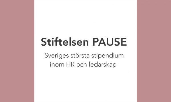 Stiftelsen PAUSE delar ut stipendium