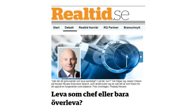 Jesper Olsson intervjuad i Realtid