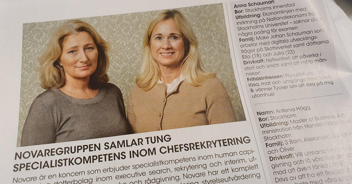 Anna Schauman och Antonia Hägg