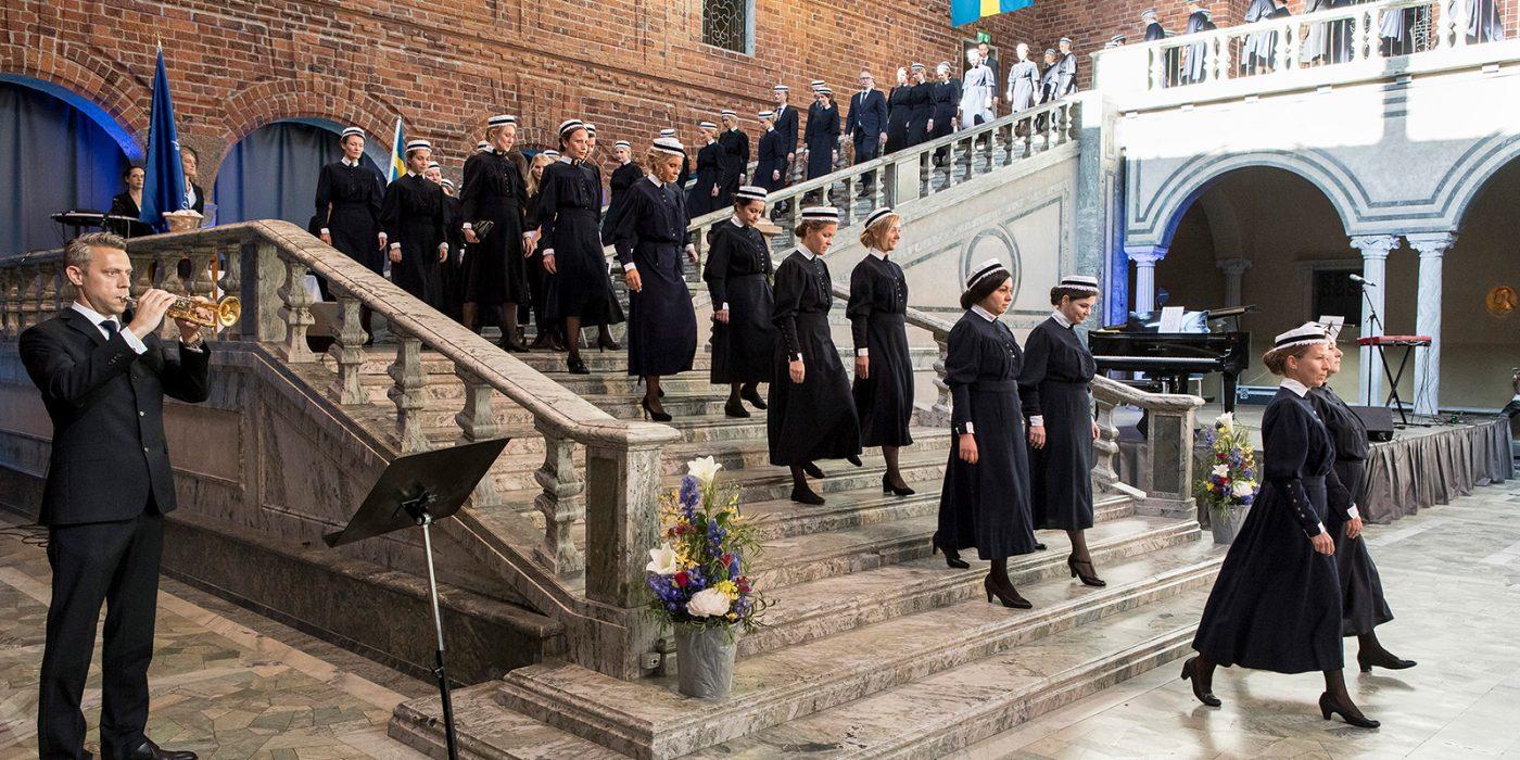 Studenter från Sofiahemmet Högskola examineras