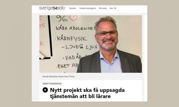 Skärmklipp från Sveriges Radio