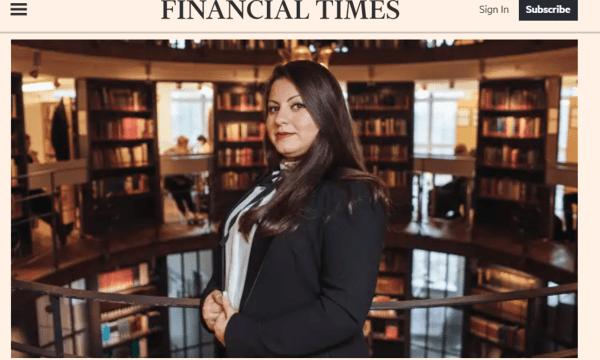 Financial Times intervjuar Lana Haddad