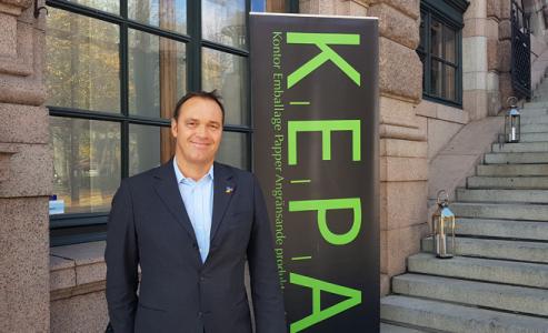 Fredrik Hillelson talade på KEPA-dagen