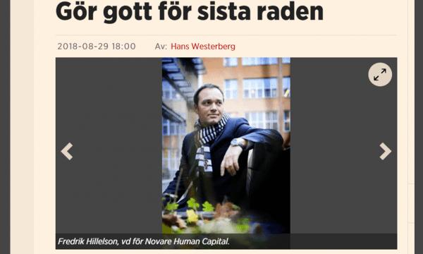 Fredrik Hillelson i Affärsvärlden