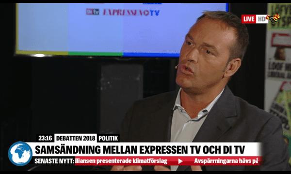 Fredrik Hillelson i partiledardebatten