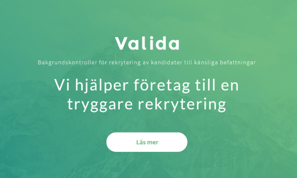 Valida - grundlig bakgrundskontroll