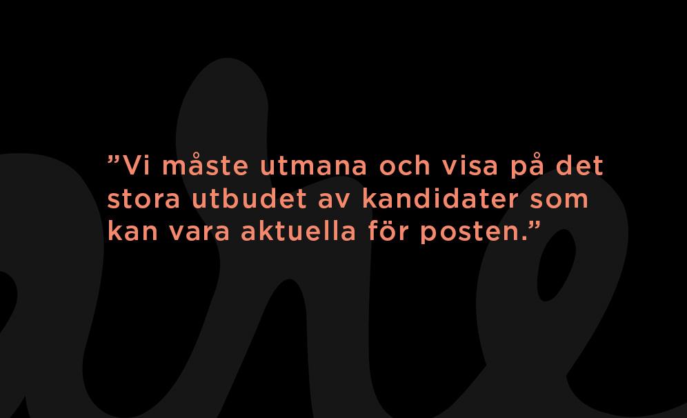 Fredrik Hillelson om jämställda rekryteringar