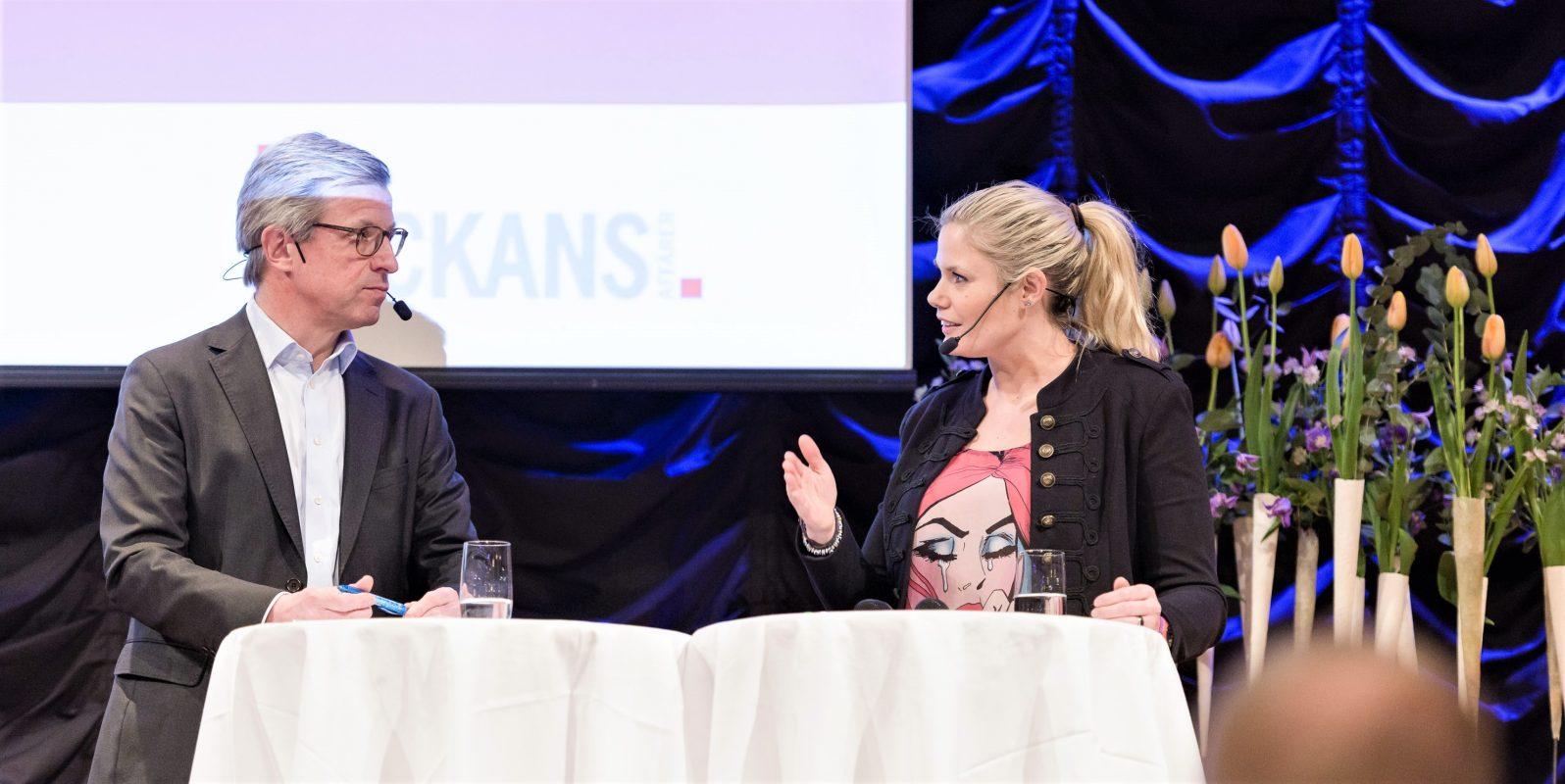 Hans Stråberg & Ulrika Viklund talare Novares Mentorprogram