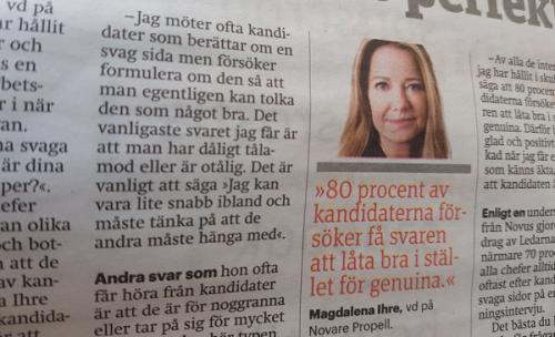 Magdalena Ihre i Metro