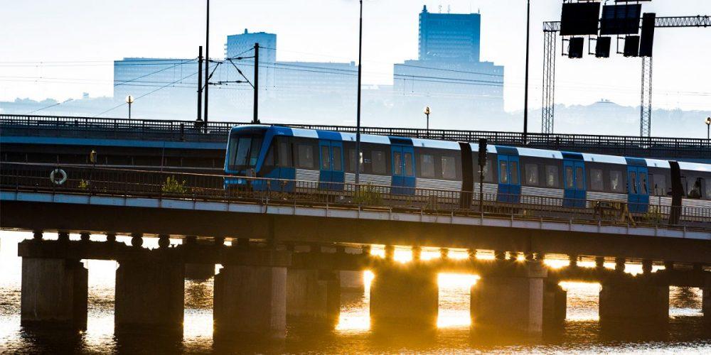 Tunnelbana över slussen