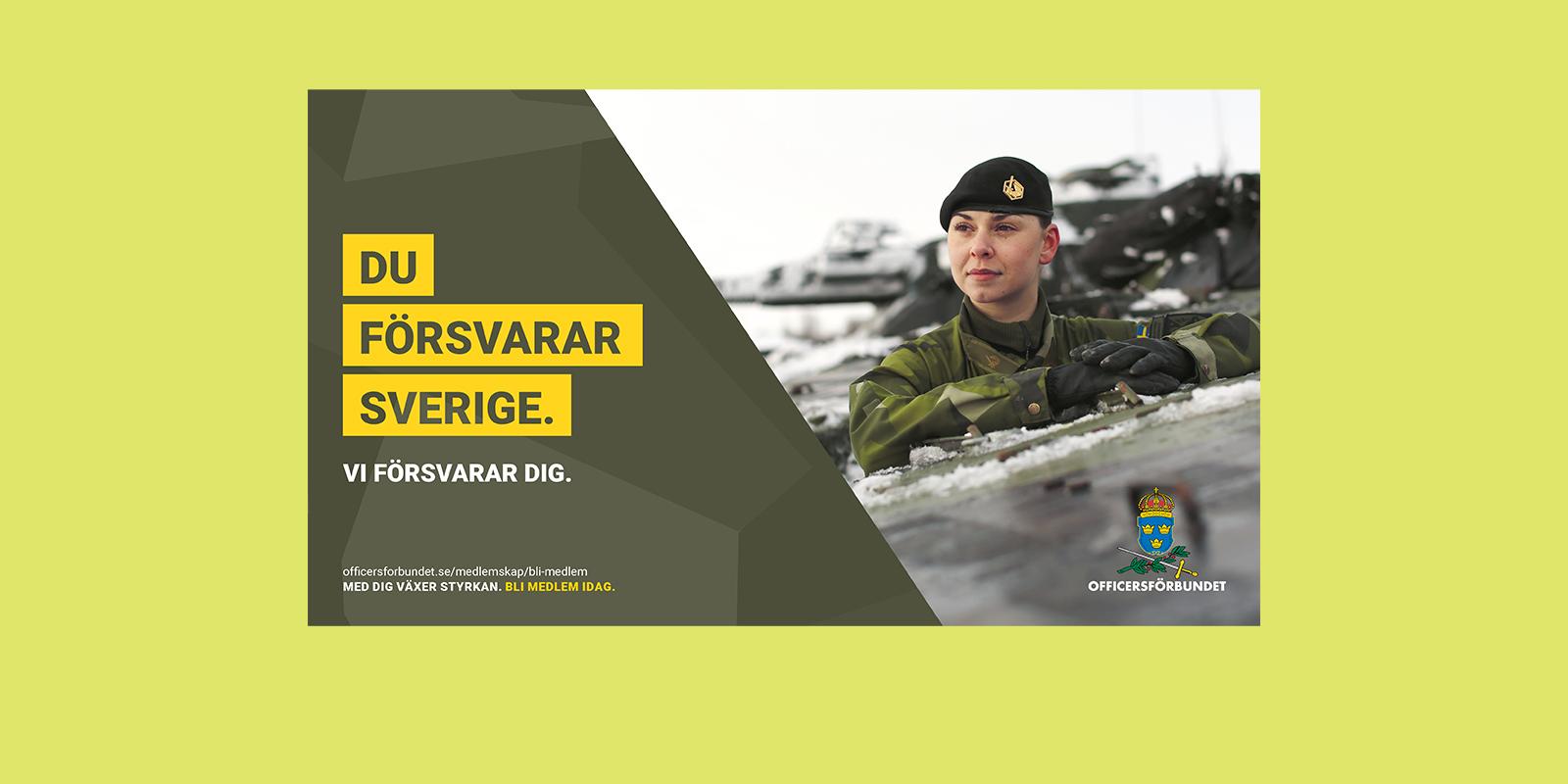 Annons för Officerförbundet